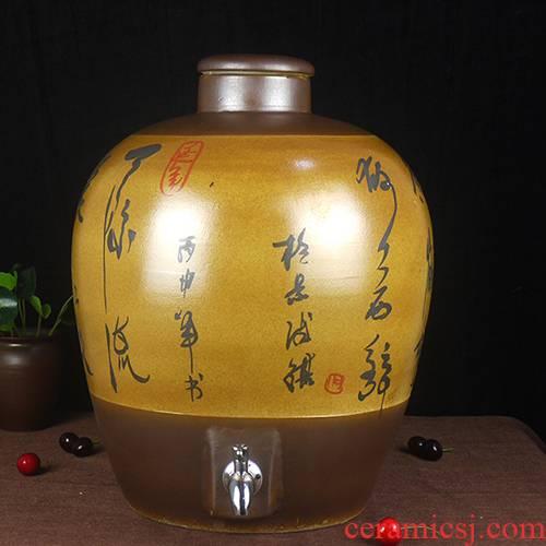 10 jins 20 jins 30 jins of jingdezhen ceramic jar 50 kg how hip mercifully bottle it hand - made of poetry