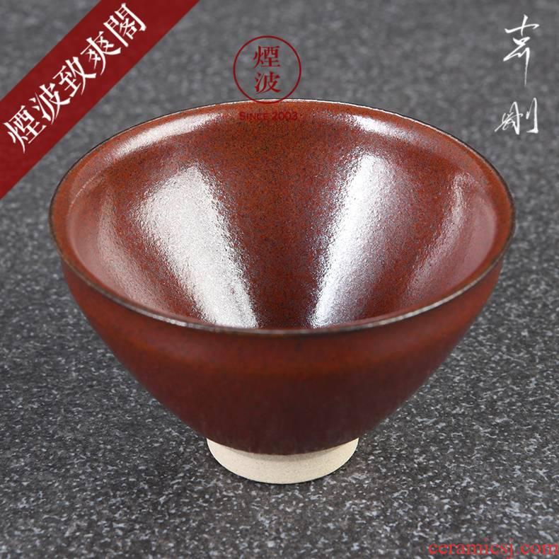 Those Japanese pottery master expedition built just xiao choi temmoku light tea light cup sample tea cup