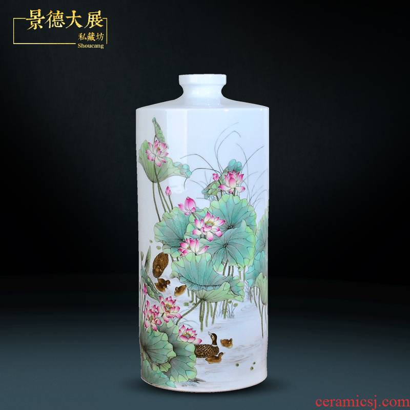 The Master of jingdezhen hand - made lotus big vase TV ark, porch home decoration furnishing articles furnishing articles sitting room study
