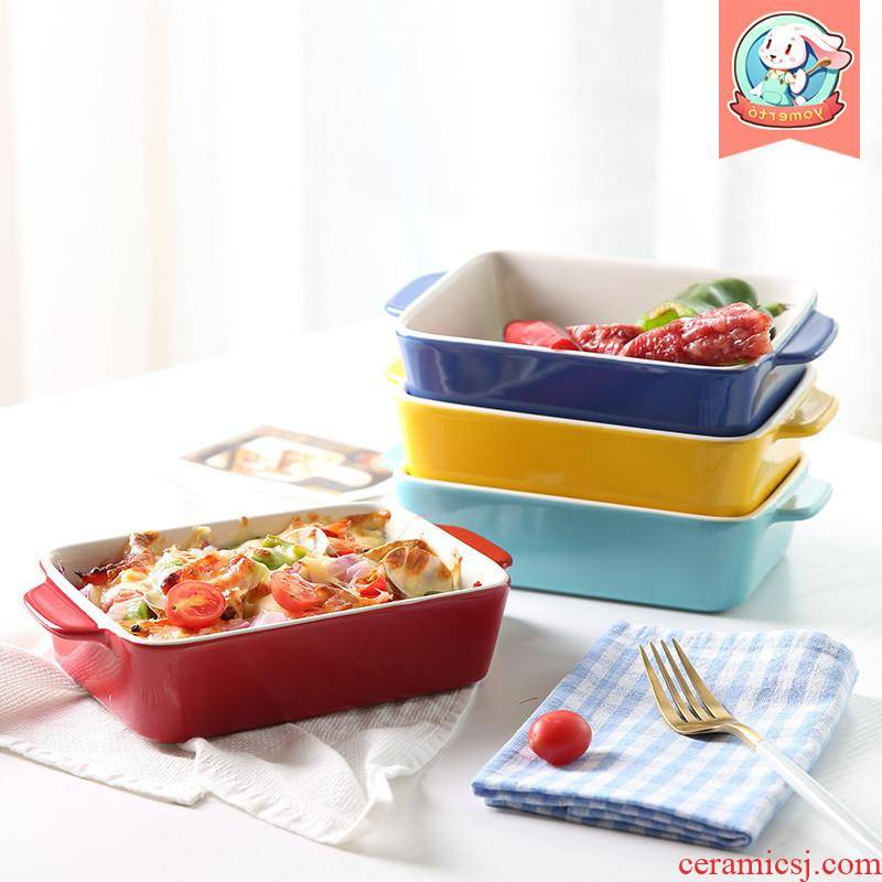The kitchen baking cheese baked FanPan microwave ceramic western - style food oven dedicated plate creative dishes