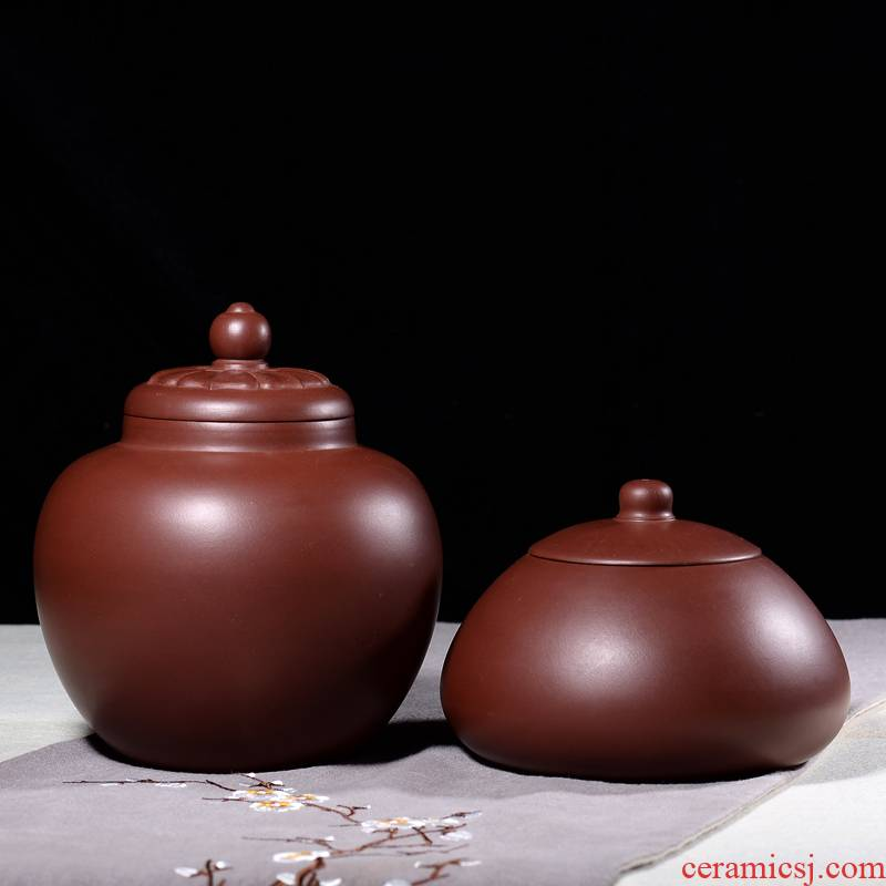 Shadow at yixing purple sand tea pot fine checking pu - erh tea can wake receives storage tanks to collect level quality goods JH