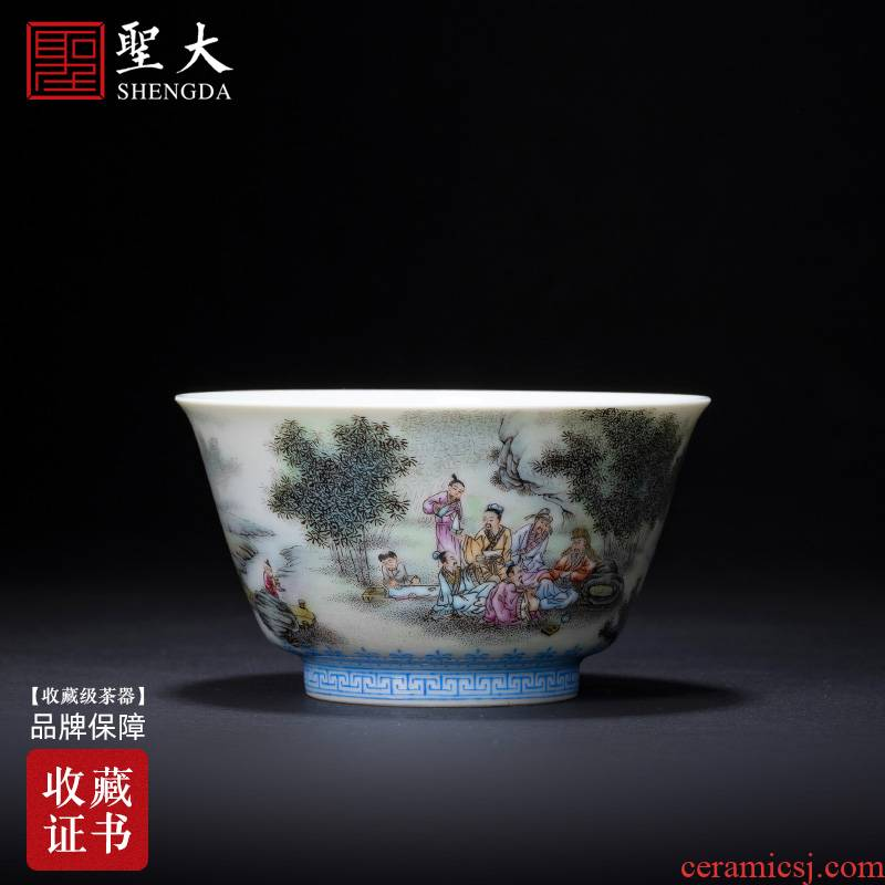 St ceramic kung fu tea cups all hand figures pastel bamboo and poly real masters cup sample tea cup of jingdezhen tea service