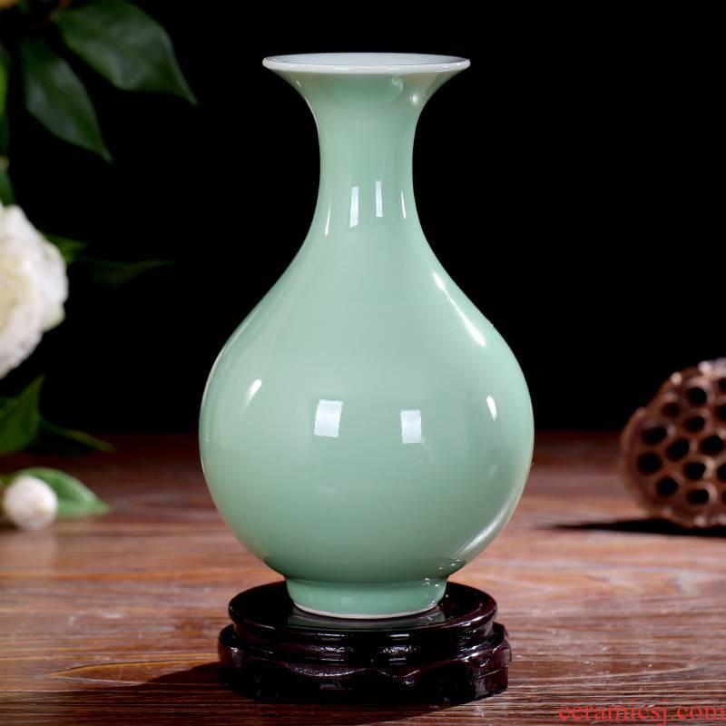 Jingdezhen ceramics antique vase furnishing articles living room flower arranging flower, dried flower porcelain decorative arts and crafts