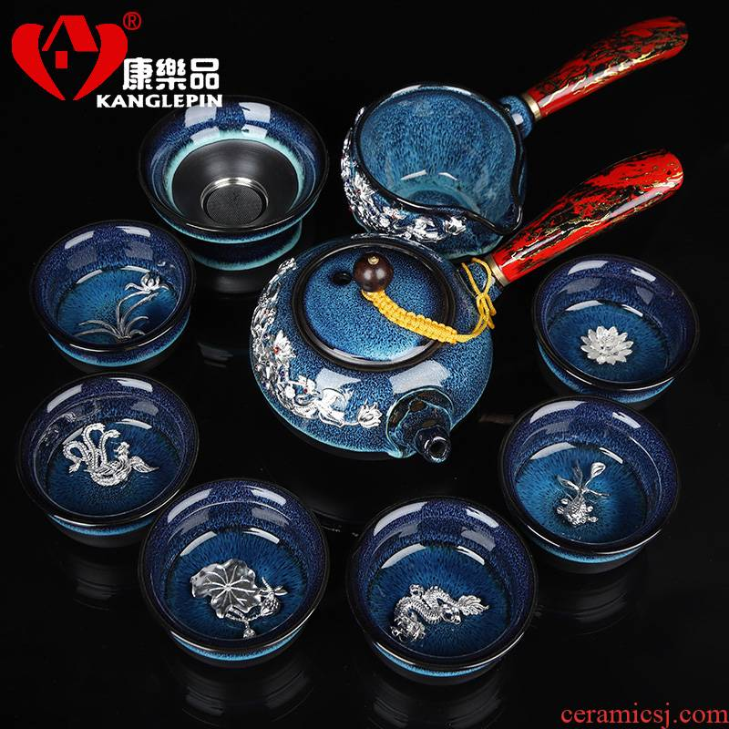 Recreation products built one variable was suit home office sitting room jingdezhen high - end gifts with silver cups