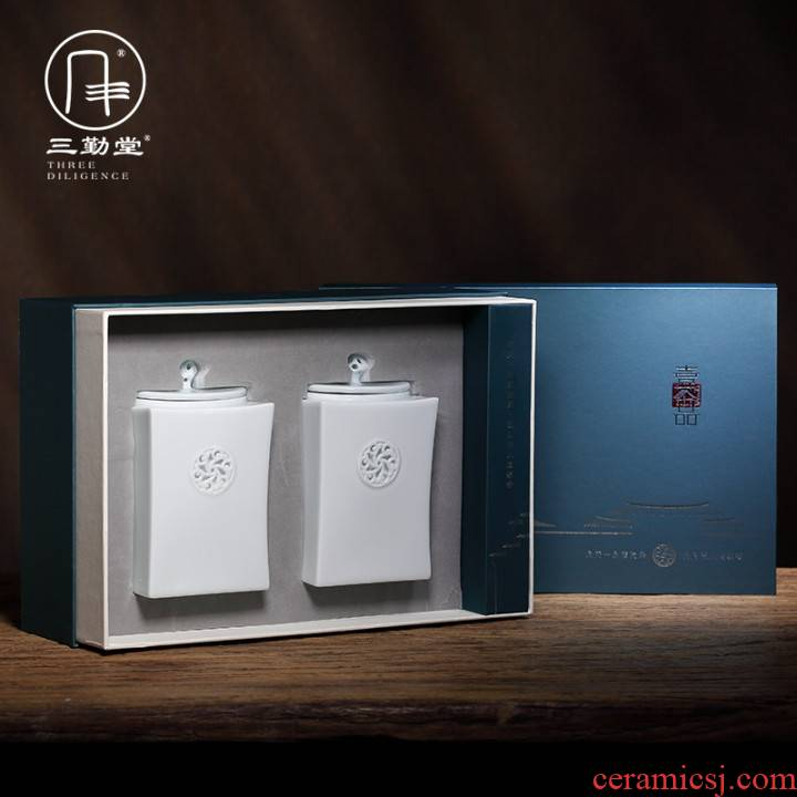 Three frequently hall jingdezhen ceramic seal up tea caddy fixings image more kung fu tea set S51013 POTS of tea storehouse