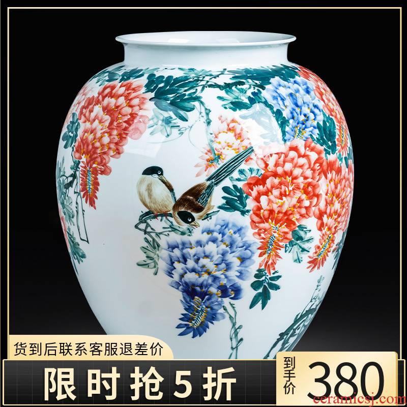Porcelain of jingdezhen ceramics hand - made sabingga sukdun dergici jimbi vase expressions using son home sitting room office study furnishing articles