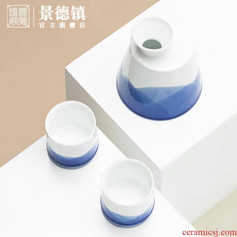 Jingdezhen listening series of high - end wine suits for business household porcelain craft glasses office gift