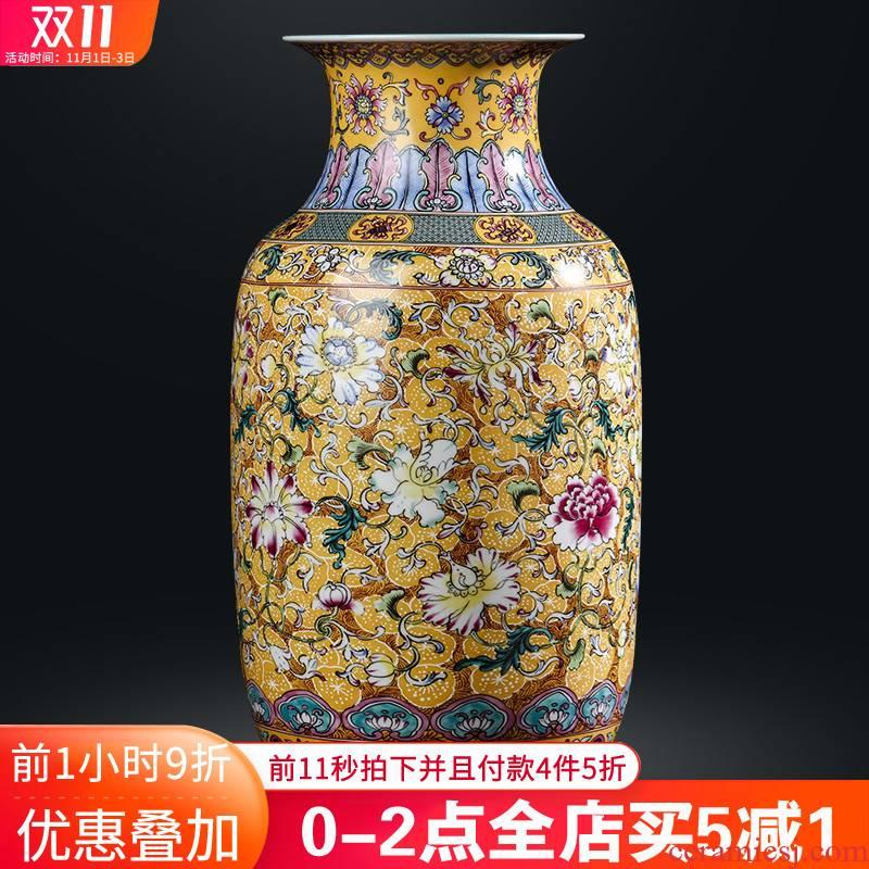 Jingdezhen ceramics vase flower arranging Chinese archaize sitting room TV ark, furnishing articles study ancient frame decoration