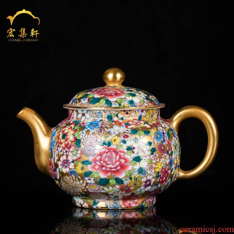 Jingdezhen ceramic teapot manual see colour enamel teapot kung fu tea tea pot home a single pot