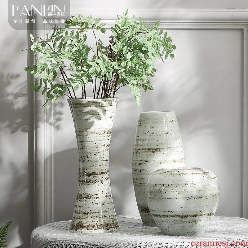 Creative ceramic vases, flower arrangement table hydroponic lucky bamboo meat basin mesa of the sitting room porch place to restore ancient ways more POTS