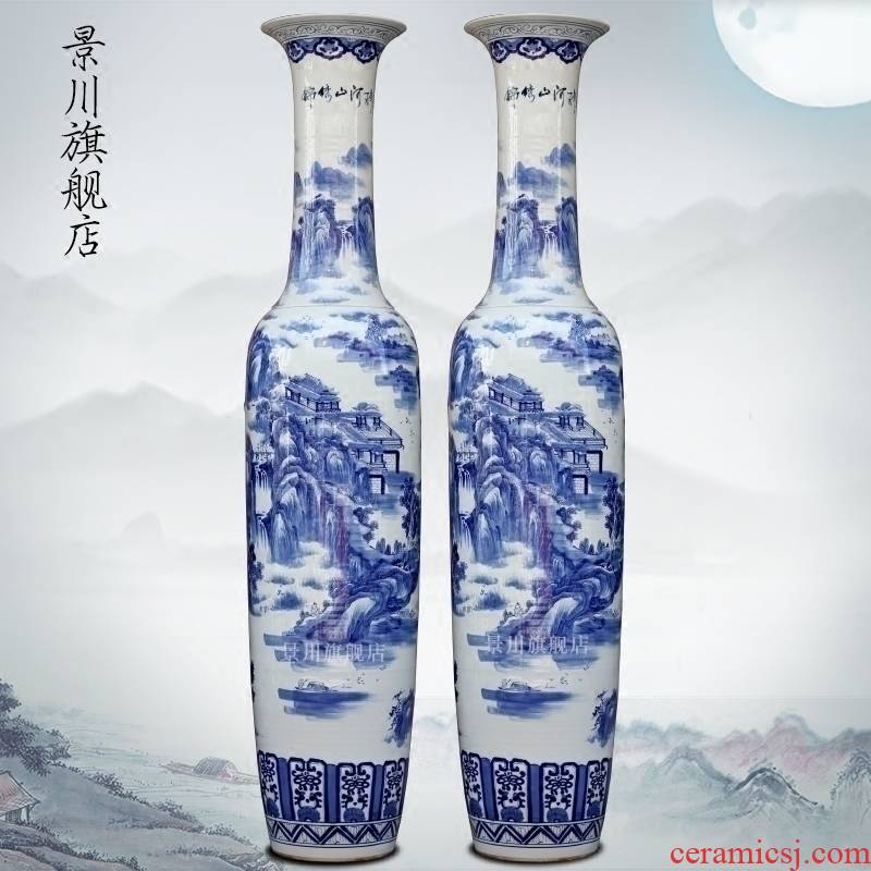 Jingdezhen porcelain ceramic hand - made splendid sunvo large vases, modern flower arrangement home sitting room hotel furnishing articles