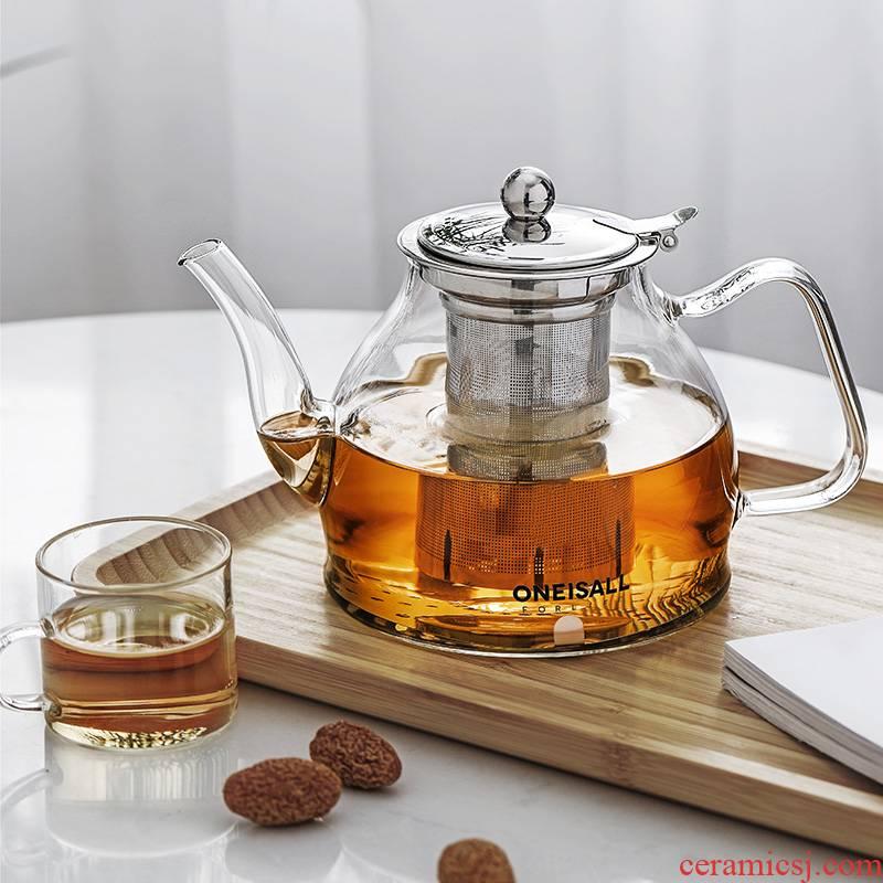 Glass teapot tea sets the large capacity high temperature firing TaoLu filter single pot cooking