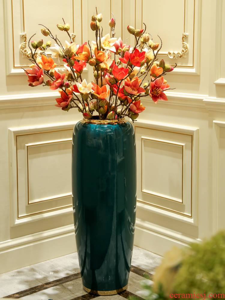 Light key-2 luxury European - style ceramics landing a large vase creative contracted sitting room bedroom dry flower, flower arranging, adornment is placed