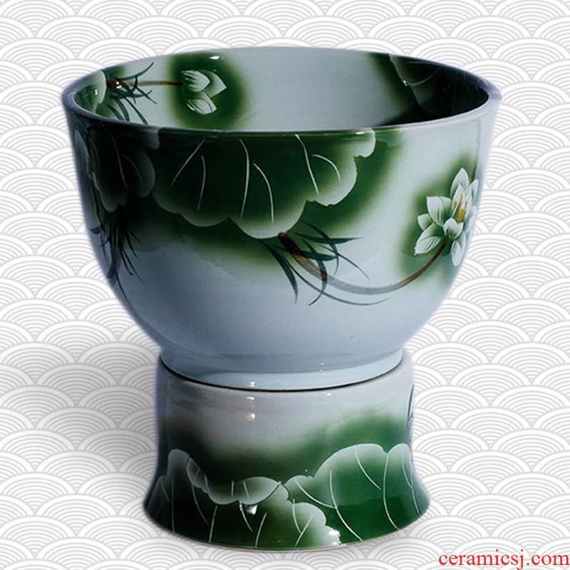 The Mop pool handicraft in jingdezhen ceramic household balcony retro archaize floor size Mop pool