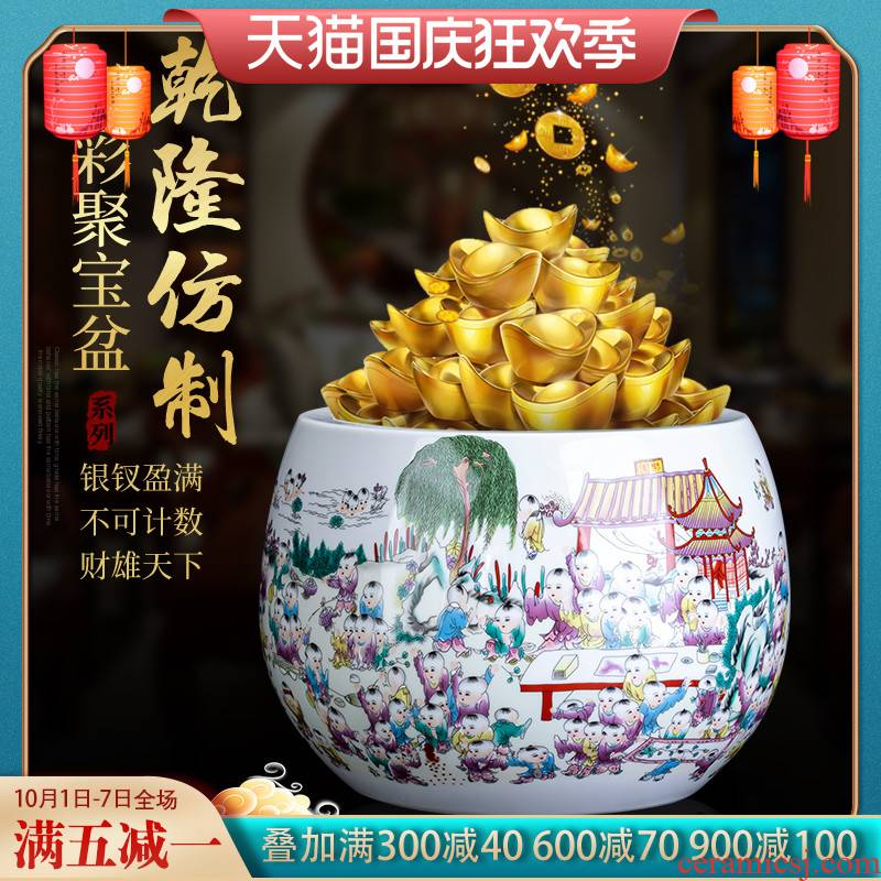 Jingdezhen ceramics, the ancient philosophers figure cornucopia furnishing articles Chinese fortune sitting room home decoration crafts
