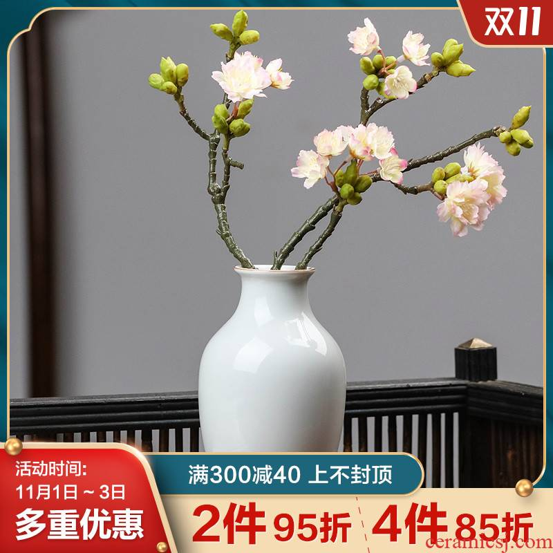 Jingdezhen ceramic vases, new Chinese style is contracted checking flower arranging, the desktop office sitting room adornment flower art furnishing articles
