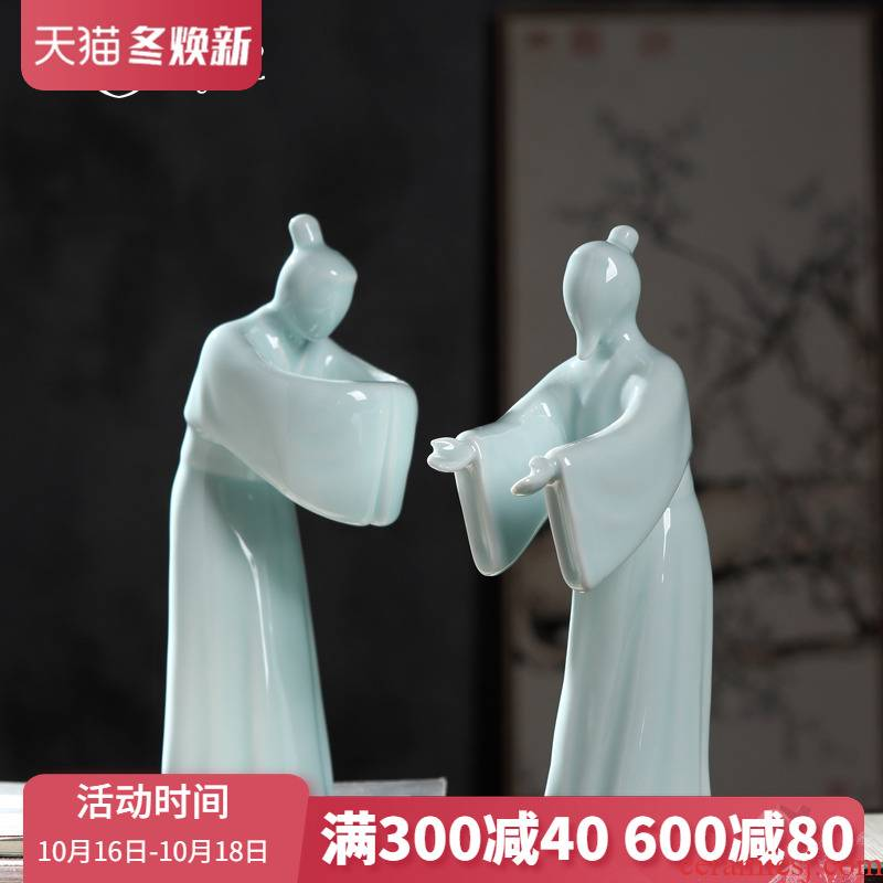 The State of modern Chinese etiquette ceramic figure sitting room porch decoration home furnishing articles its handicraft ornament