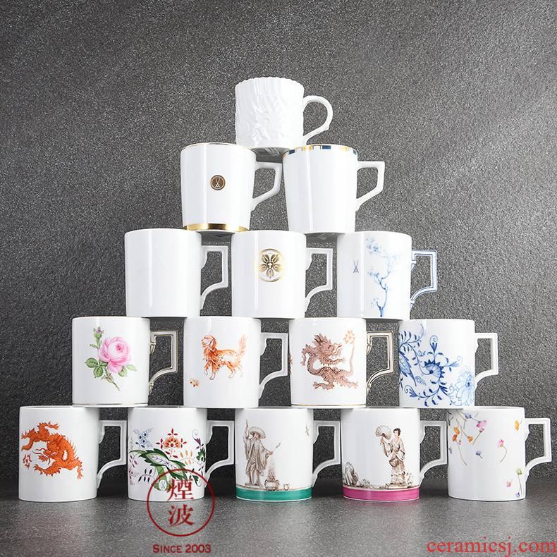 Berlin Germany mason mason meisen porcelain flowers design keller large capacity water cup series characters