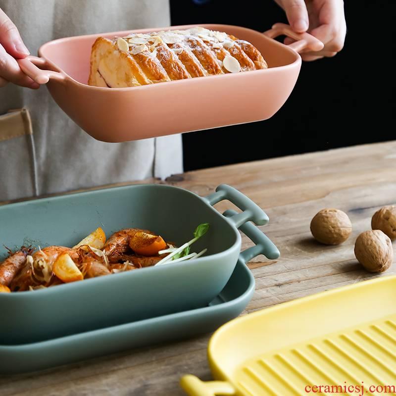 Baked FanPan cheese Baked jobs baking pan ceramic ears oven dedicated plate creative home baking bowl