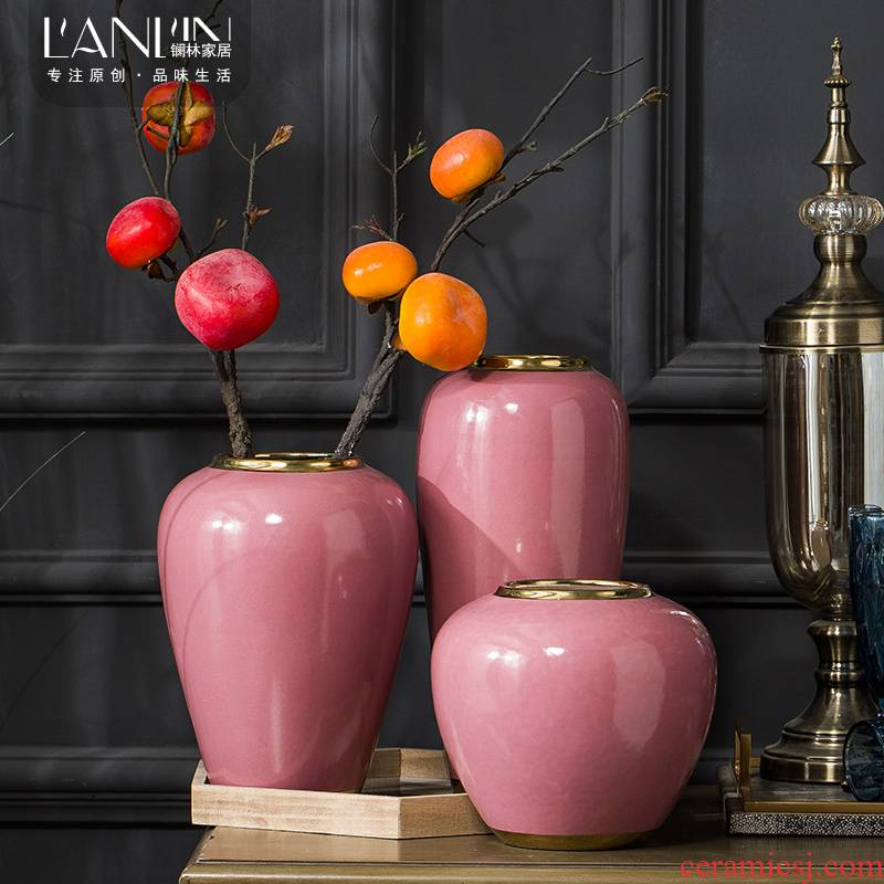 Vase furnishing articles European style small POTS dry flower arranging flowers sitting room is contracted and I household small pure and fresh and creative decoration
