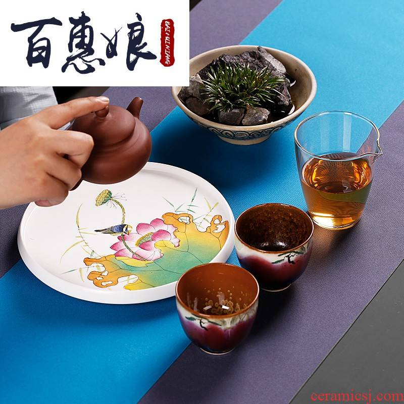 (niang hand antique pot bearing hand up with ceramic plates are it mat pot of kung fu tea set with zero dry