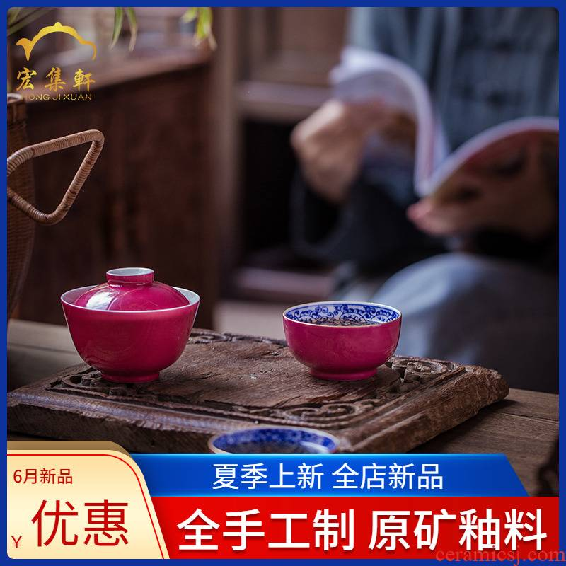 Famille rose porcelain of jingdezhen ceramic cups more personal getting large hand - made the master sample tea cup cup single fullness