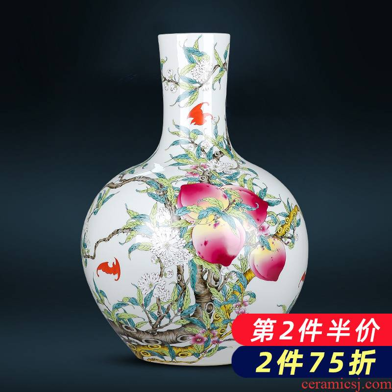 Jingdezhen porcelain ceramic archaize sitting room place, a large vase Chinese style restoring ancient ways home flower arrangement sitting room adornment
