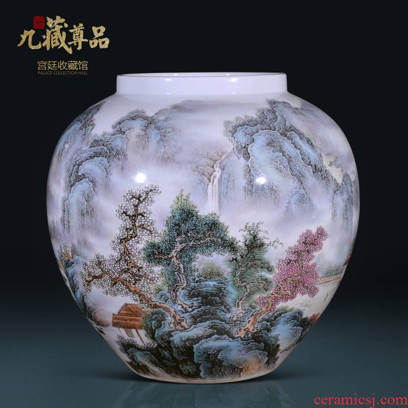 The Master of jingdezhen ceramics hand - made jinxiu jiangnan vase Chinese style living room porch decoration vase furnishing articles
