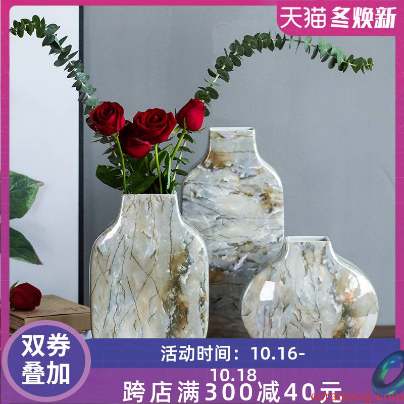 Modern ceramic vase vase furnishing articles household act the role ofing is tasted wine sitting room adornment light much creative ceramic TV ark