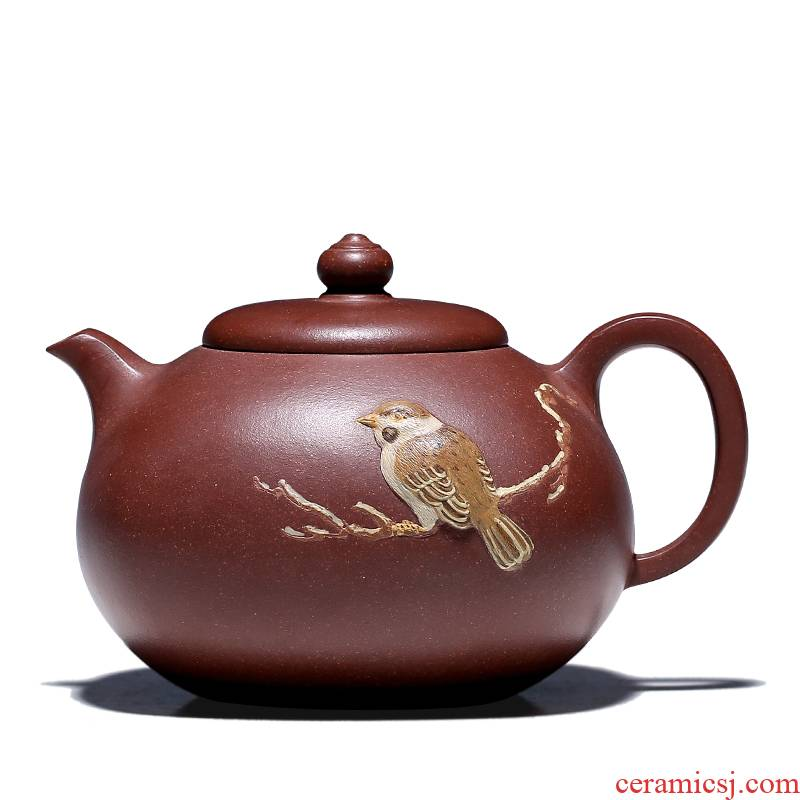 Shadow at yixing masters are it the teapot tea collection jack li - ping shao purple clay GYT sparrow tongue sipped pot