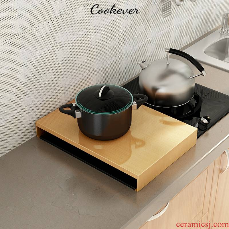 Kitchen new induction cooker stainless steel shelf gas buner cover gas base hearth low - cost punch