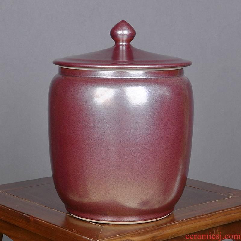Big yards moistureproof pu 'er tea pot ceramic seal household storage tanks seven loaves receives moistureproof large tea urn