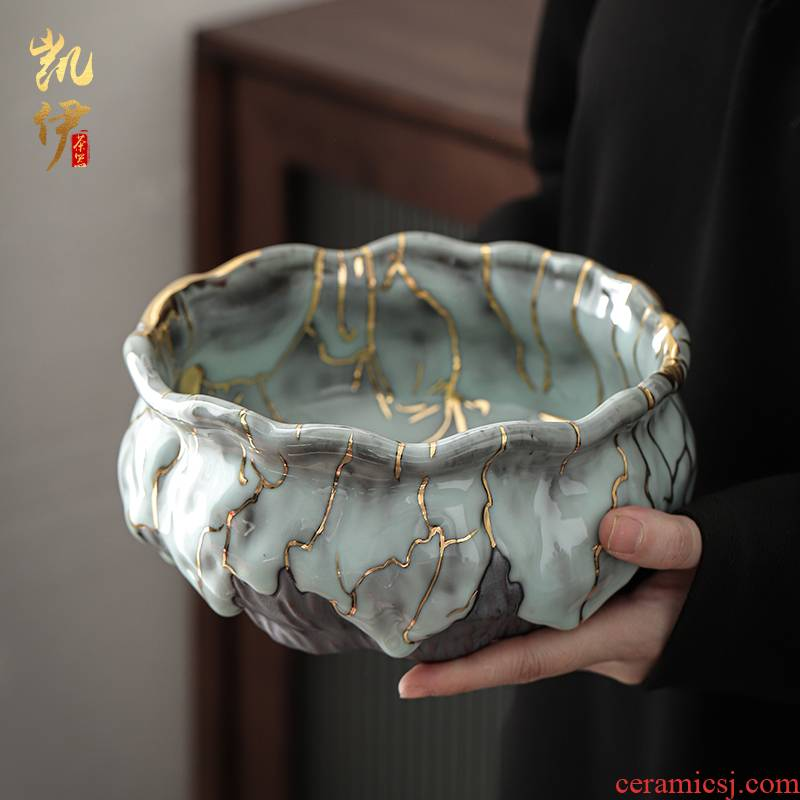 Chi wild'm gold cup for wash large tea wash to ceramic creative tea cups to wash hand washing kung fu tea tea accessories