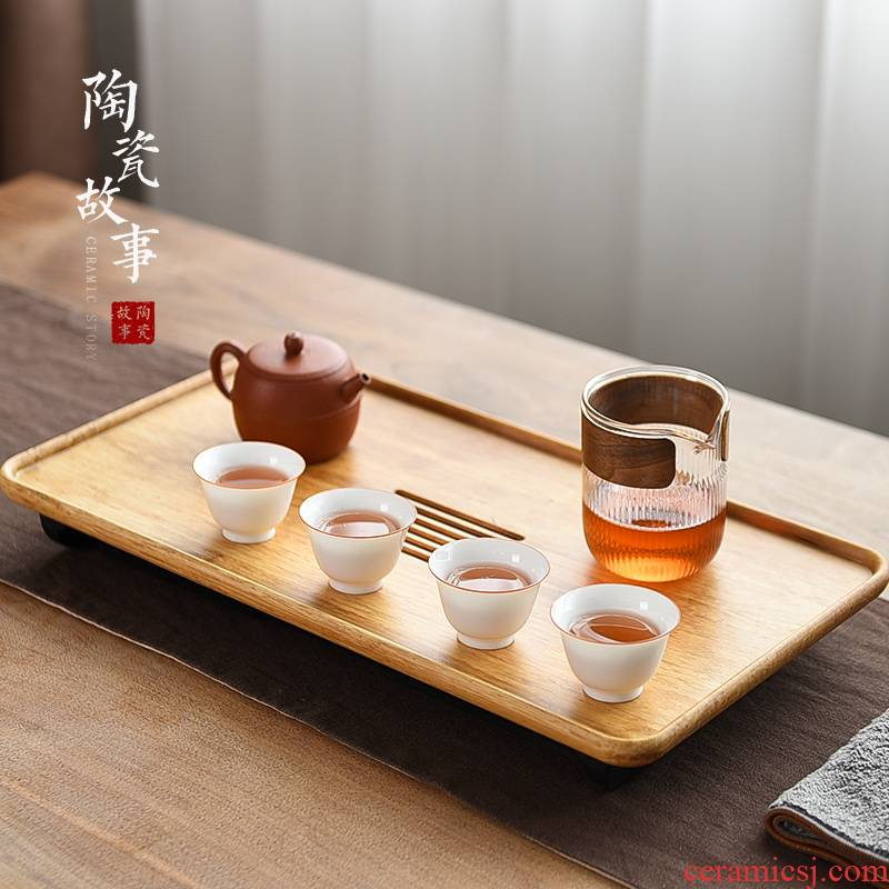 Story of pottery and porcelain plate of household small dry tea tea tea tray was drop sea kung fu tea saucer plate type