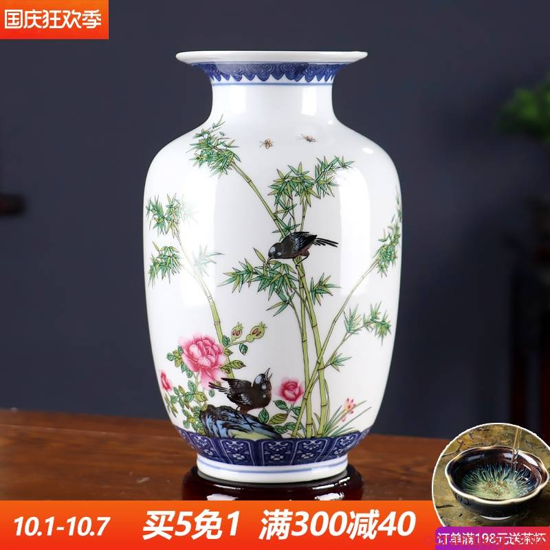 The Bucket color blue and white porcelain vase furnishing articles sitting room TV ark, small decorative arts and crafts flower arranging archaize jingdezhen ceramics
