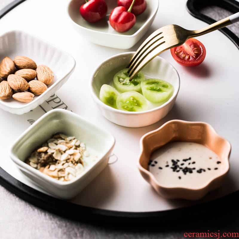 Dab of seasoning sauce dish bowl of mini household creative Japanese ceramic dip soy sauce vinegar salad sauce dish