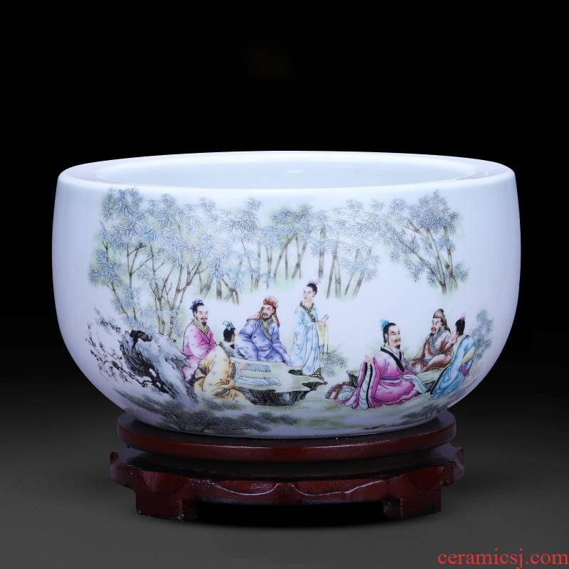 Jingdezhen ceramics tank cylinder tortoise feng shui plutus cornucopia home furnishing articles office sitting room adornment