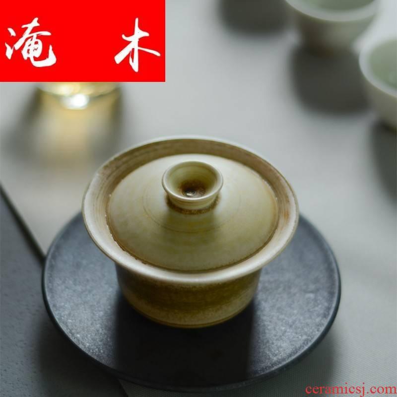 Submerged wood small three just tureen jingdezhen ceramic not hot checking retro home tea tea machine