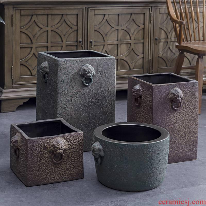Restoring ancient ways of creative move mesa vase decoration antique bronze ceramic vase made in wind furnishing articles