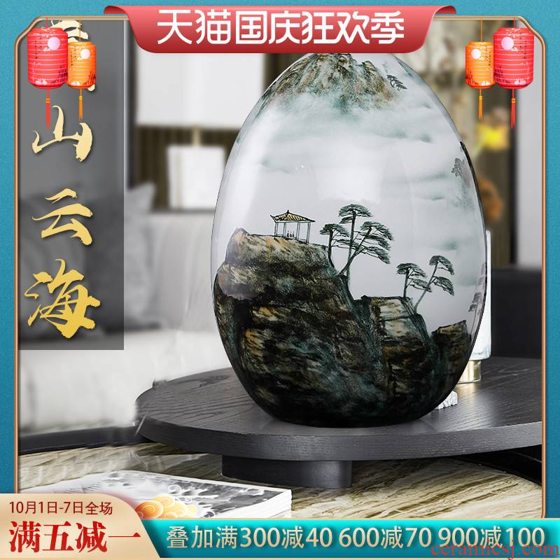 Jingdezhen ceramics furnishing articles hand - made home decoration f large egg sitting room ark, plutus creative arts and crafts
