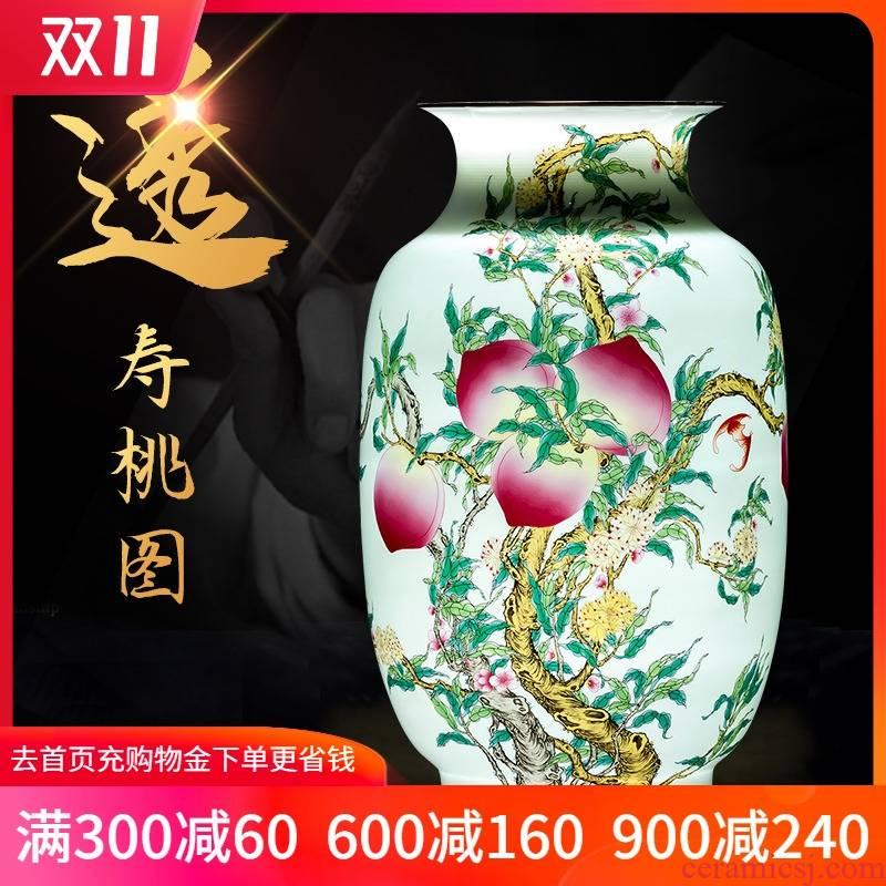 Jingdezhen ceramics, vases, flower arranging Chinese style household furnishing articles, the sitting room porch TV ark, wine ark, adornment porcelain