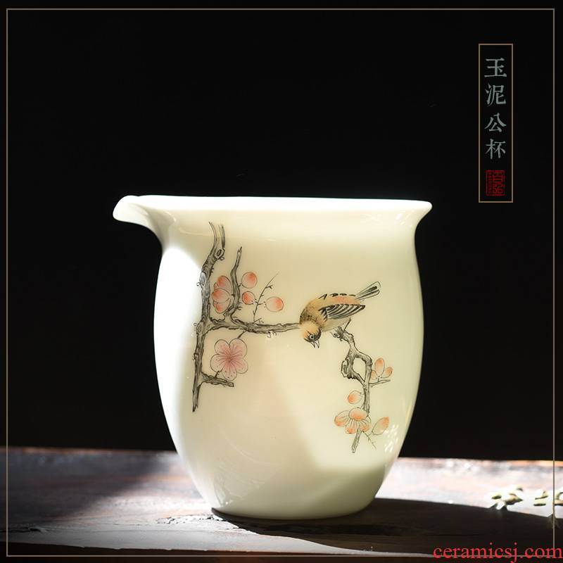 Jingdezhen ceramic fair keller hand - made painting of flowers and birds kung fu tea set orchid apple, cherry and a cup of tea is tea sea