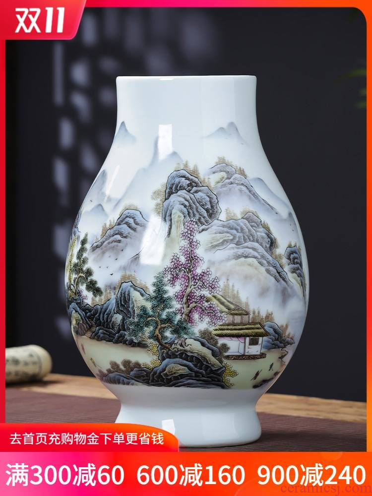 Jingdezhen ceramics pastel landscapes f cylinder vase expressions using keep lucky bamboo sitting room adornment TV ark, furnishing articles