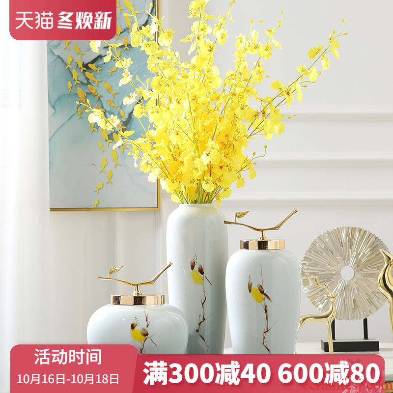 Jingdezhen modern new Chinese style ceramic vase furnishing articles sitting room porch ark, TV ark, decoration home decoration