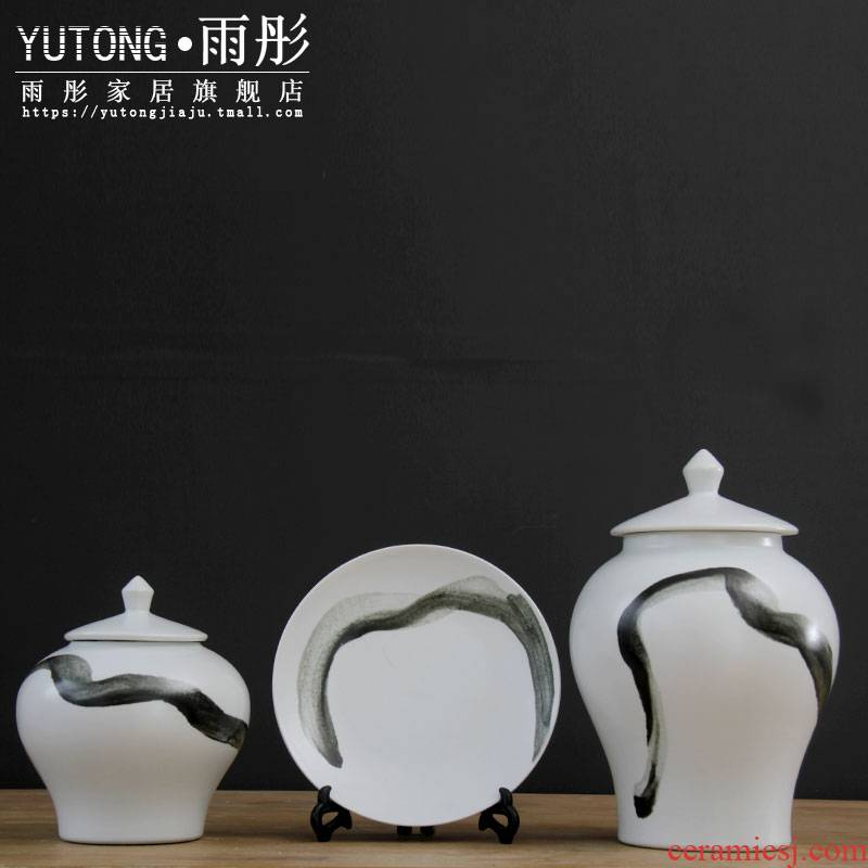 Modern ceramic hang dish dish place of the sitting room porch soft adornment of new Chinese style household wine cabinet office plates