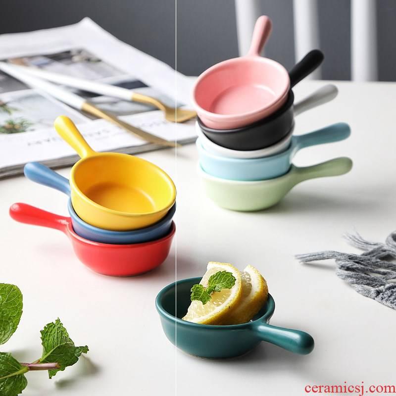 Flavor dish household dab of creative ceramic mini Japanese salad dipping sauce condiment tomato sauce vinegar dishes