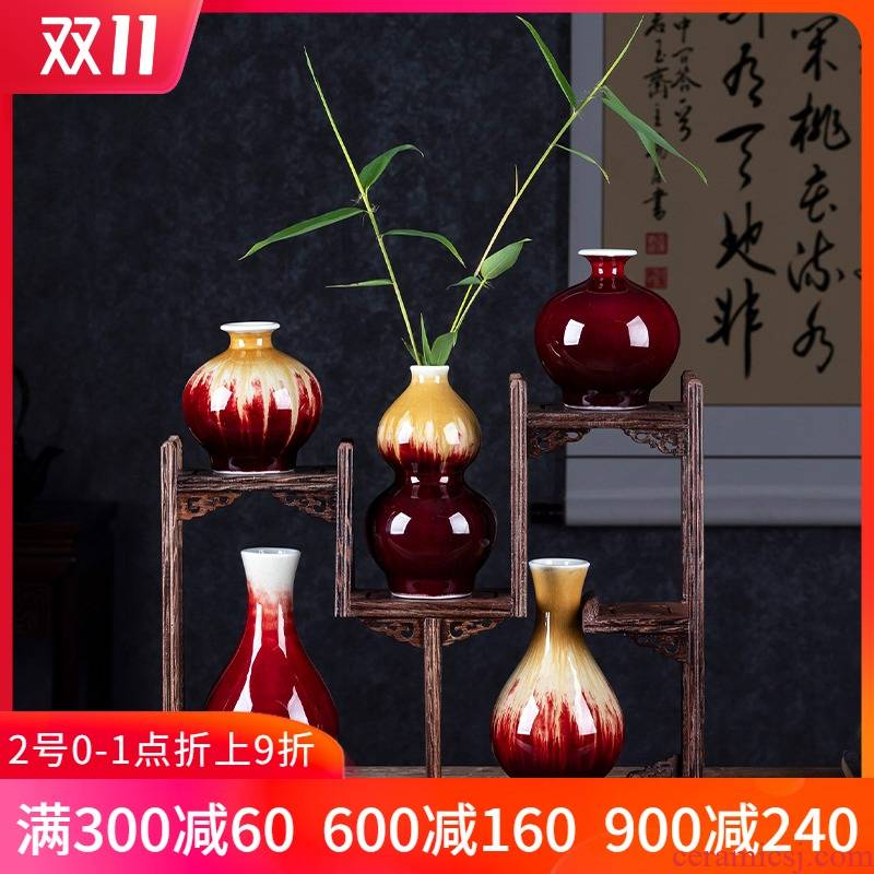 Porcelain of jingdezhen ceramic mini floret bottle flower tea hydroponic creative restoring ancient ways is rich ancient frame accessories furnishing articles
