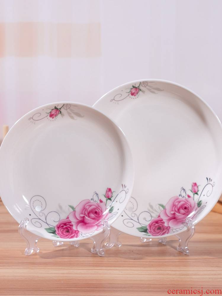 6 dishes Scene for 8 inches plate plate disc household creative jingdezhen ceramic plate plate round