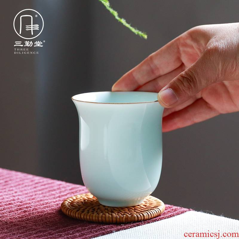 Three frequently hall office jingdezhen ceramic keller cup kung fu tea set S41119 fragrance - smelling cup big capacity