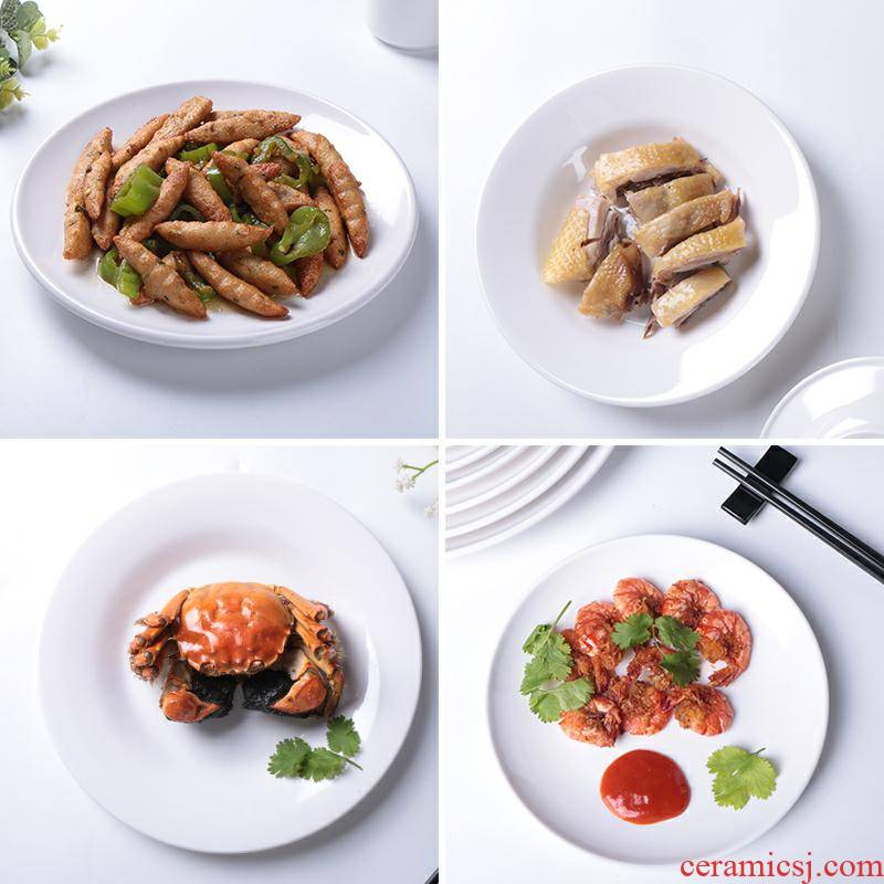 Imitation porcelain plate plastic circular plates to vomit ipads white hotel hotel butterfly ltd. buffet cold dish of melamine tableware